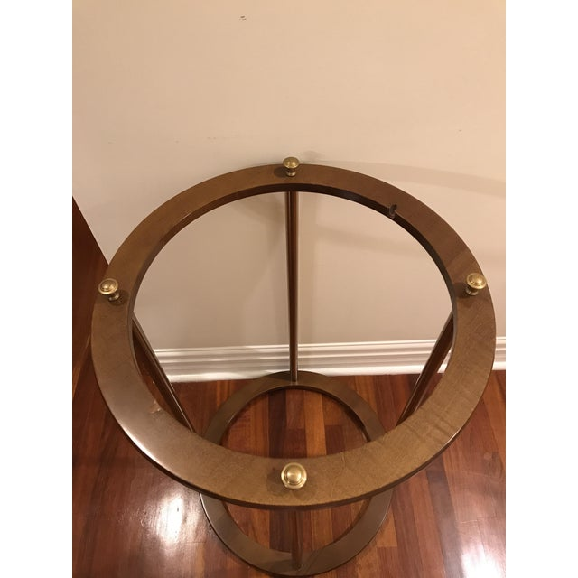 Brass Vintage Replogle Brass and Wood World Globe on Stand For Sale - Image 8 of 9