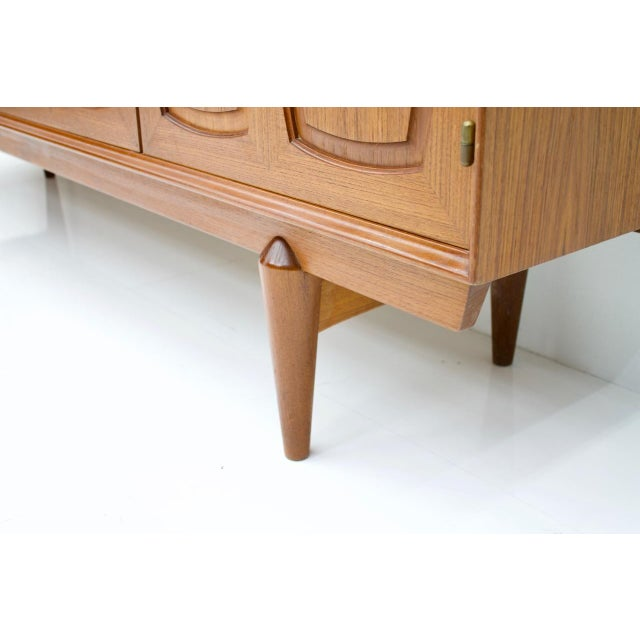 Graphic Teak Sideboard by Rastad & Relling for Bahus Norway 1960s For Sale - Image 6 of 9