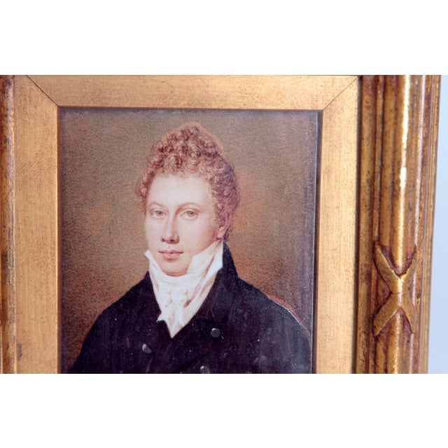 Pair of Well-Painted Portrait Miniatures / Handsome English Regency Gentlemen For Sale In Dallas - Image 6 of 13