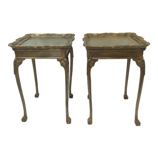 20th Century French-Style Painted Side Tables - a Pair For Sale