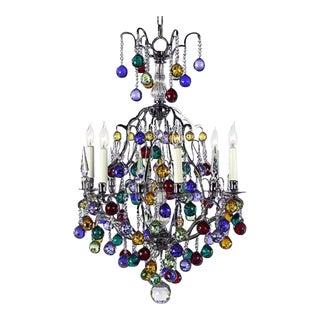 Myran Allen Luxury Lighting Multi-Color Swarovski Crystal Chandelier For Sale