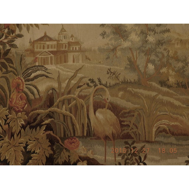 """Tan Chineses Abusson Style Tapestry. 4'x 5'8"""" For Sale - Image 8 of 10"""