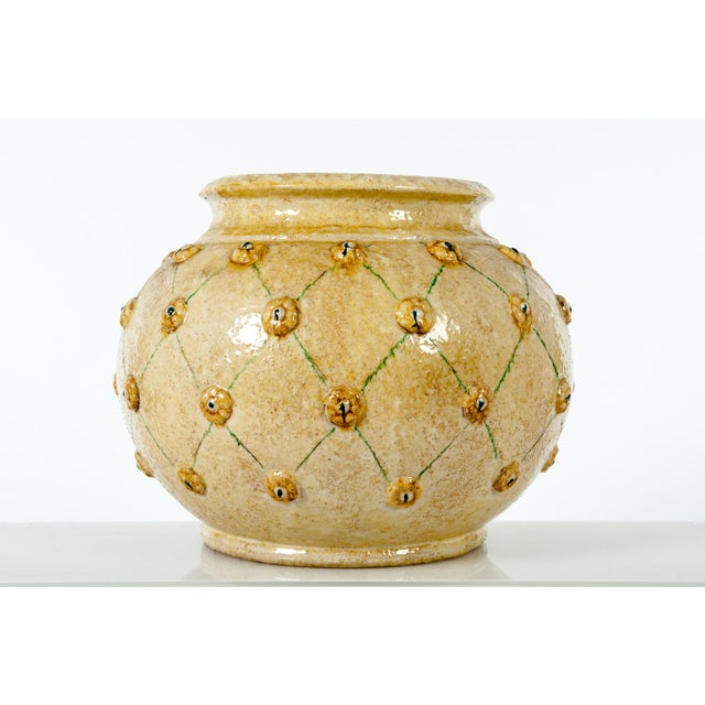 Mid-century DolfI glazed ceramic decorative planter / piece. This piece would bring a great addition to any space and can...