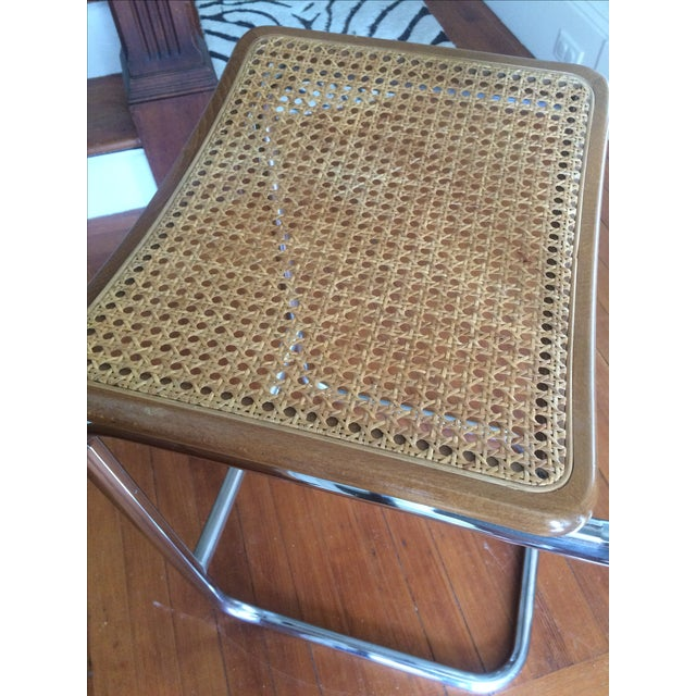Marcel Breuer Style Cesca Bar Stool - A Pair For Sale - Image 5 of 7