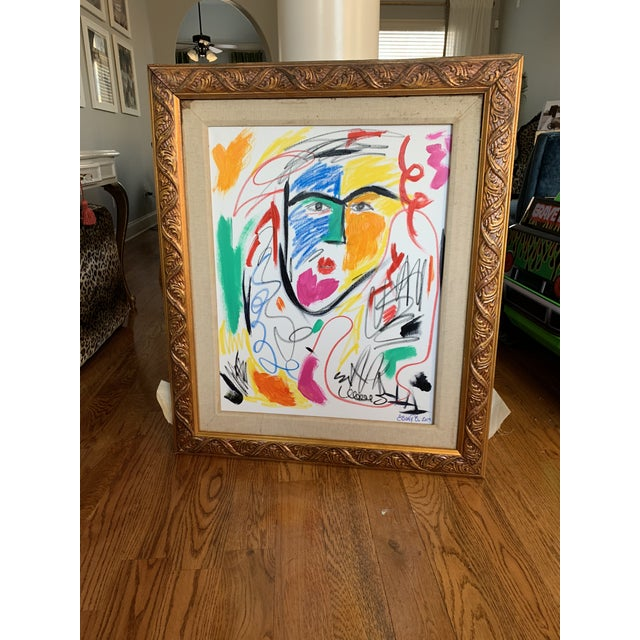 """""""He is a Queen"""" Abstract Face Painting For Sale - Image 4 of 5"""