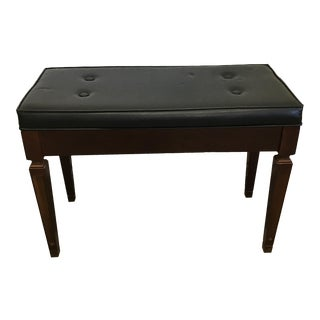 Mid-Century Piano Bench Storage Stool