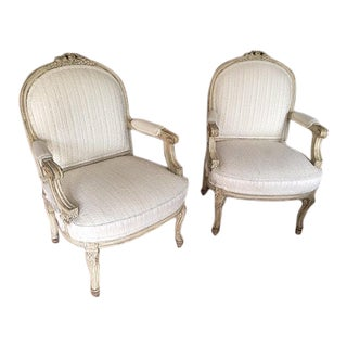 Vintage Louis XV Chairs - A Pair
