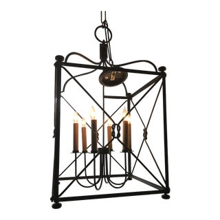 Fine Arts Bronze Finish Large Lantern