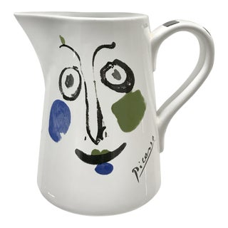 1993 Ceramic Picasso Face Pitcher For Sale