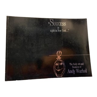 1989 Early Art and Business Andy Warhol Book For Sale