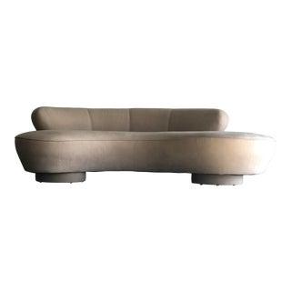 Vladimir Kagan for Directional Serpentine Sofa, Organic Modernist For Sale