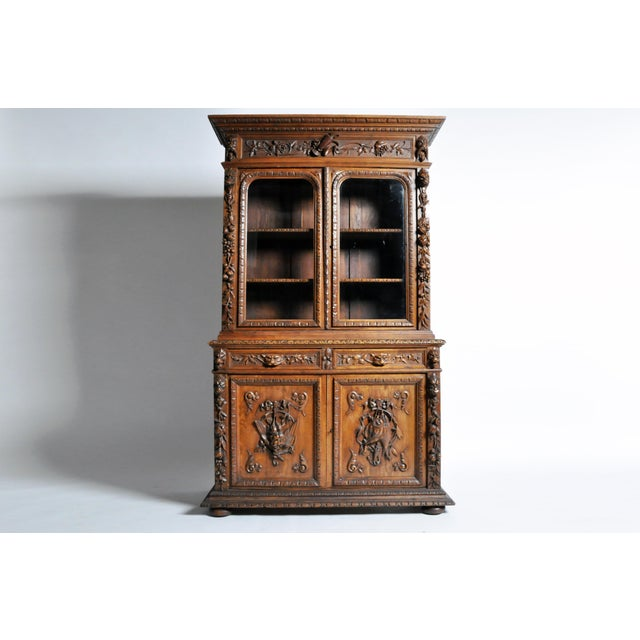 As opulent as it is well-made, this massive oak cabinet hails from Northern France and was likely commissioned during the...