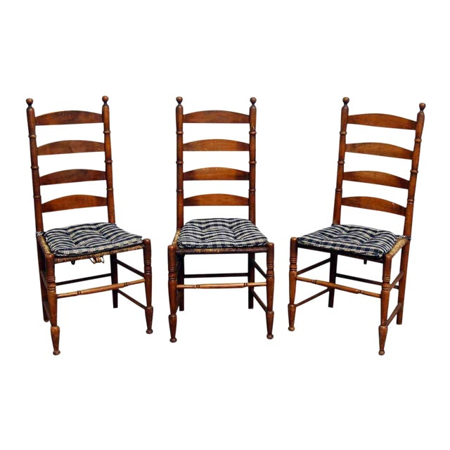 Set of 3 Caned Chairs - Image 1 of 10