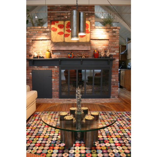 Mid-Century Modern E. Garfinkle Brutalist Coffee Table With Coordinating Chandelier For Sale - Image 3 of 13