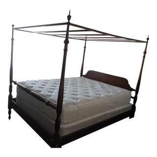 Suter's Four Poster Canopy Queen Bed With Blanket Rail For Sale