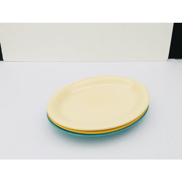 Vintage Mid-Century Fiesta Fiestaware Platters - Set of 3 For Sale - Image 10 of 10