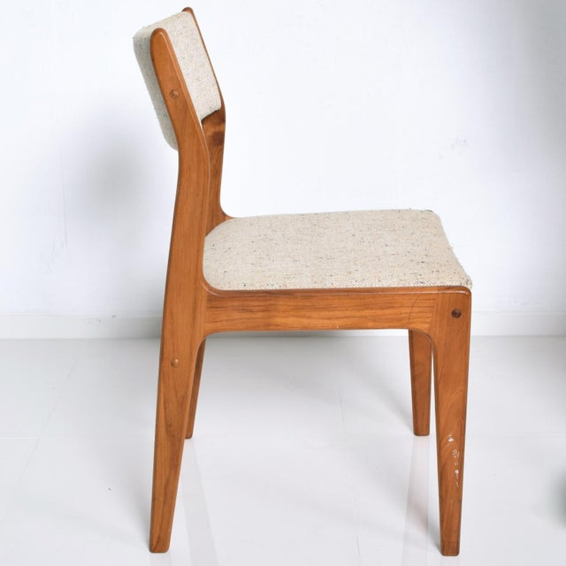 Benny Linden Mid-Century Danish Modern Teak Dining Chairs - Set of 4 For Sale - Image 9 of 11