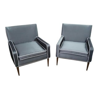 1950s Mid Century Modern Paul McCobb for Directional 302 Lounge Chairs - a Pair