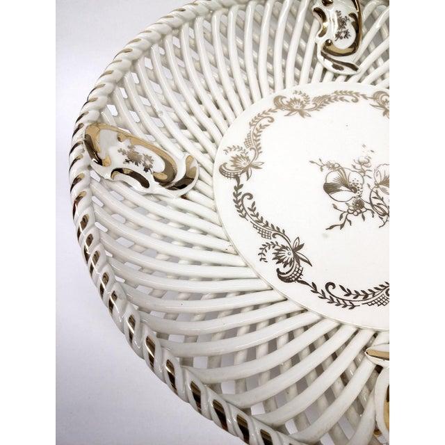 Spanish Lattice Weave Ceramic Dish - Image 5 of 11