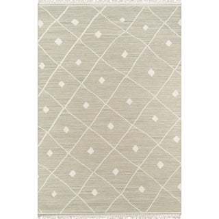 "Erin Gates by Momeni Thompson Appleton Sage Hand Woven Wool Area Rug - 3'6"" X 5'6"" For Sale"