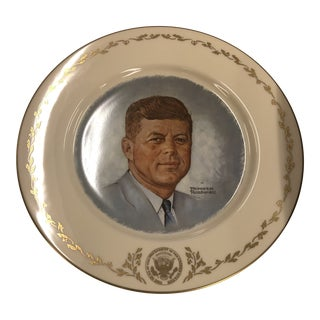 Gorham John F Kennedy Numbered Decorative Plate For Sale