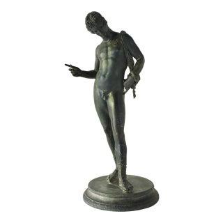 19th Century Italian Bronze Figure of Narcissus For Sale