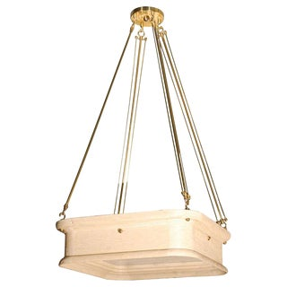 Paul Marra Boch Chandelier in Distressed Natural For Sale
