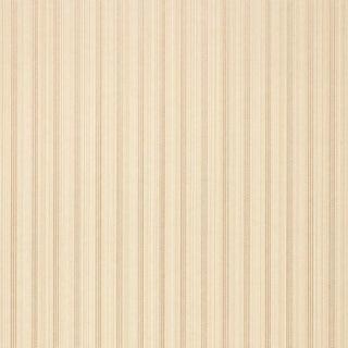 Sample - Schumacher X Simply Charming Sanford Strie Wallpaper in Bone For Sale