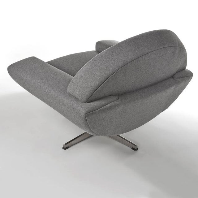 Gray 1960's VINTAGE JOHANNES ANDERSEN CAPRI SWIVEL CHAIRS- A PAIR For Sale - Image 8 of 8