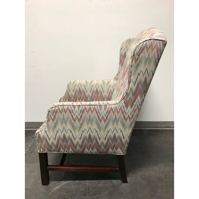 Mahogany Chippendale Flame Stitch Wing Chair For Sale In Charlotte - Image 6 of 10