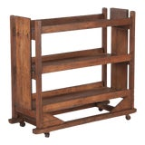 Image of 1940s French Industrial Pine Rolling Cart For Sale