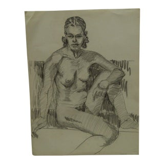 "Tom Sturges Jr. 1957 ""Yvonne"" Original Drawing"