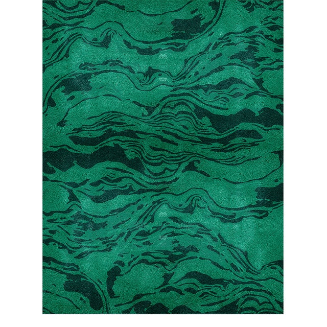 Modern Congo Botanical Rug From Covet Paris For Sale - Image 3 of 3