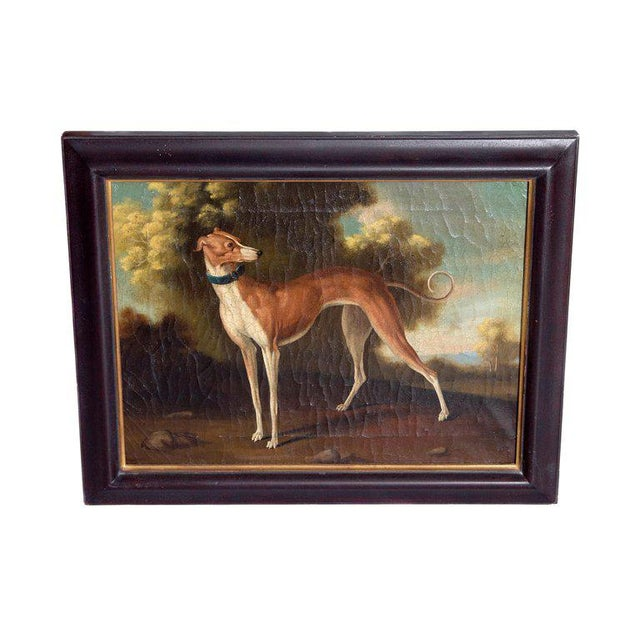 19th Century English Oil on Canvas of Whippet in a Landscape For Sale - Image 13 of 13