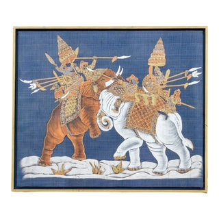 Biru Thai Temple Painting For Sale