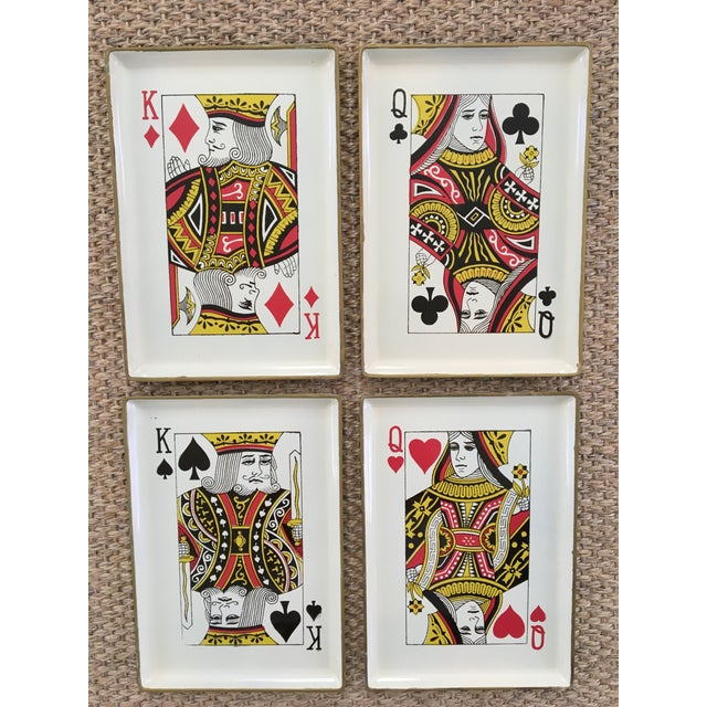 1960's Vintage Snack Trays in Playing Card Shapes - Set of 4 For Sale - Image 12 of 13