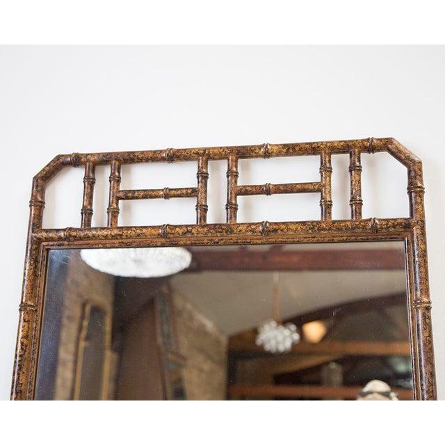 Bamboo Form Frame Tortoiseshell Mirror For Sale - Image 4 of 5