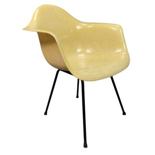 Vintage Mid Century Modern Eames Fiberglass Zenith Dah Armchair For Sale