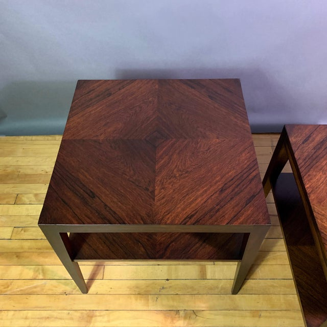 Pair Isaac Teperman Brazilian Rosewood Side Tables, 1950s For Sale In New York - Image 6 of 11