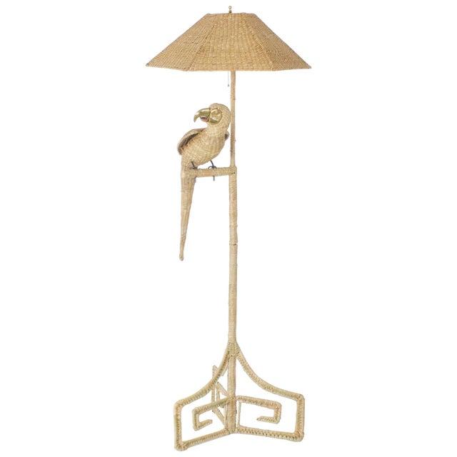 Tan Mario Torres Parrot Floor Lamp For Sale - Image 8 of 8