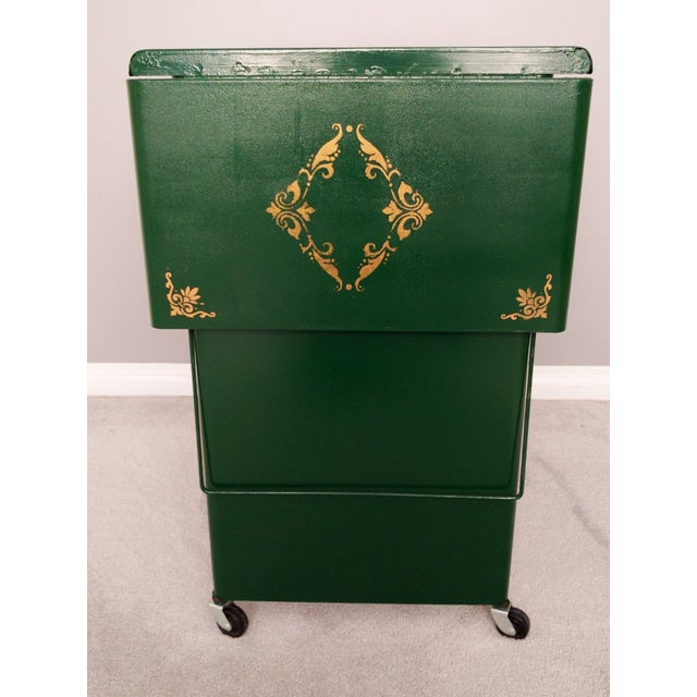 Cole Steel Green & Gold Typewriter Stand - Image 2 of 11