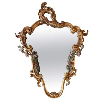 Early 18th Century Antique Italian Wall Mirror For Sale