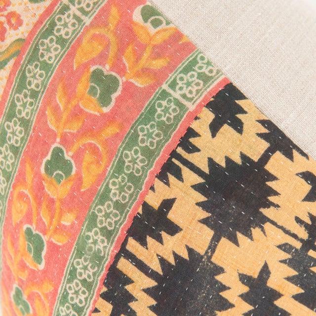 Vintage Kantha Pillow For Sale - Image 4 of 4