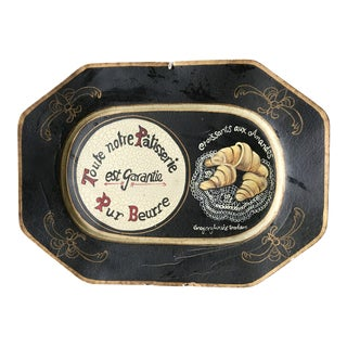 "Vintage Hand-Painted French ""Toute Notre Patisserie"" Tray"