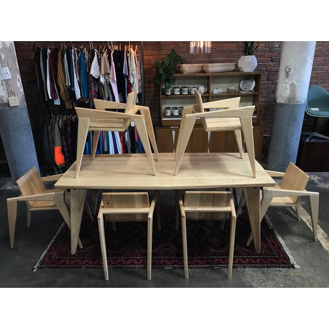 Custom Palomino Solid Ash Dining Set - Set of 7 - Image 2 of 7