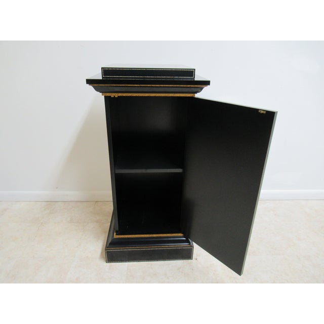Modern Maitland Smith Black Ebonized Lamp End Table For Sale - Image 10 of 13