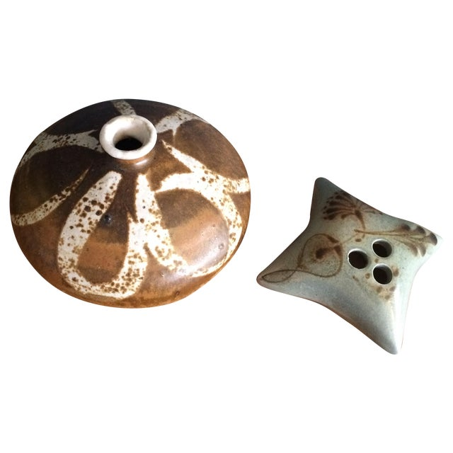Ceramic Weed Pots - A Pair - Image 1 of 6