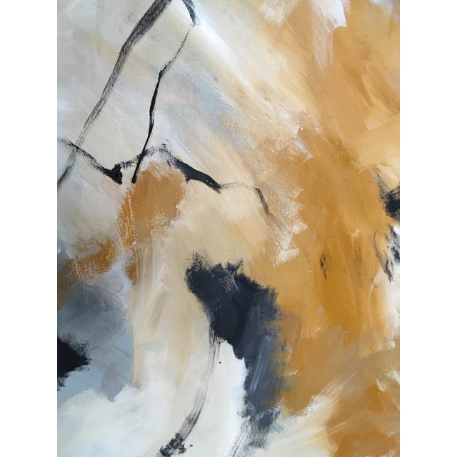 An original abstract expressionist painting by Buffalo, NY artist Maddie Gerig Shelly. A dynamic, textured and delightful...