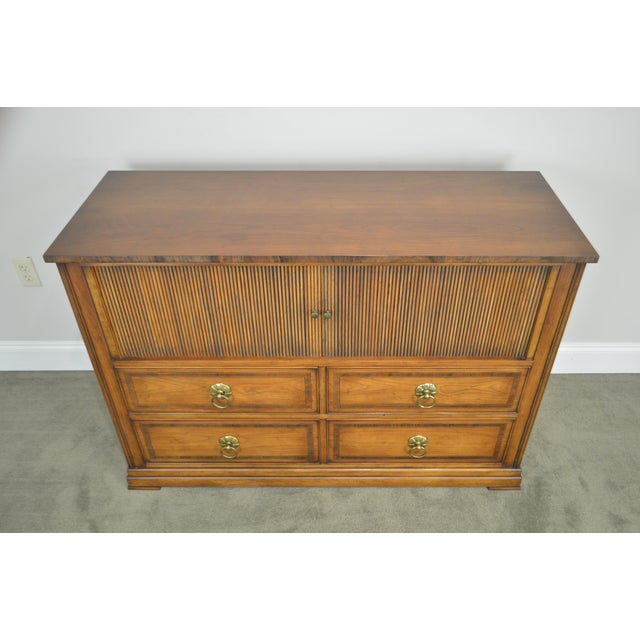 Regency Style Custom Quality Tambour Door Chest For Sale - Image 11 of 13