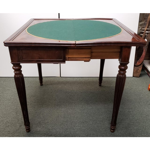 Early 20th Century English Regency Style Mahogany Flip Top Games Table For Sale - Image 4 of 9